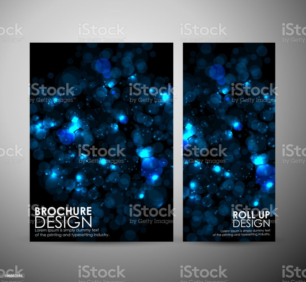 Abstract Circle bokeh. Brochure business design template or roll up. vector art illustration