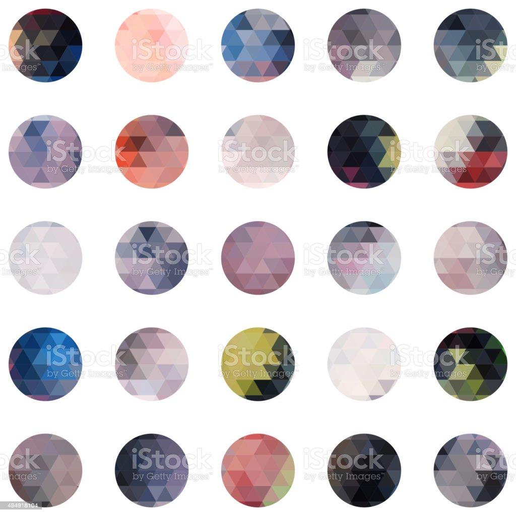 abstract circle colourful mosaic icon vector art illustration