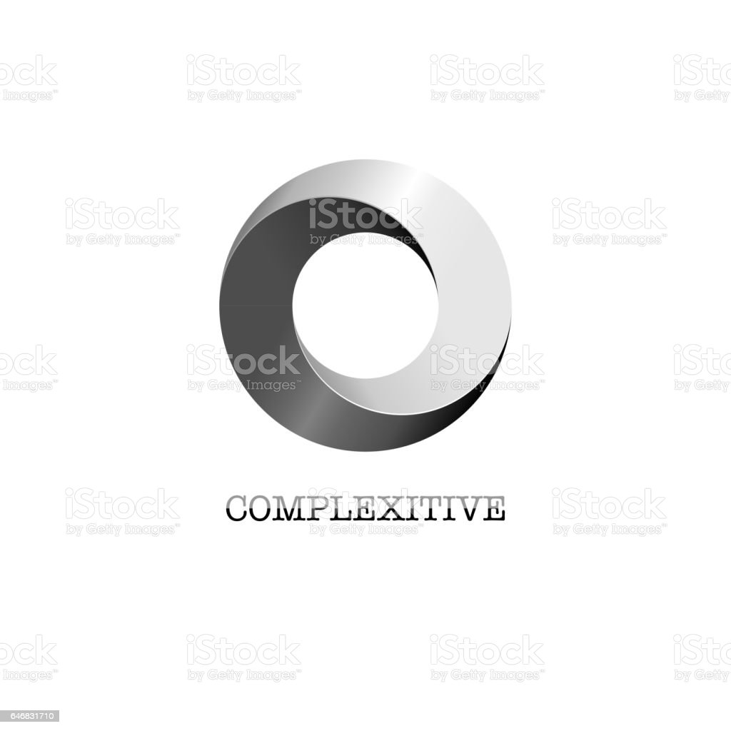 Abstract circle company logo vector art illustration