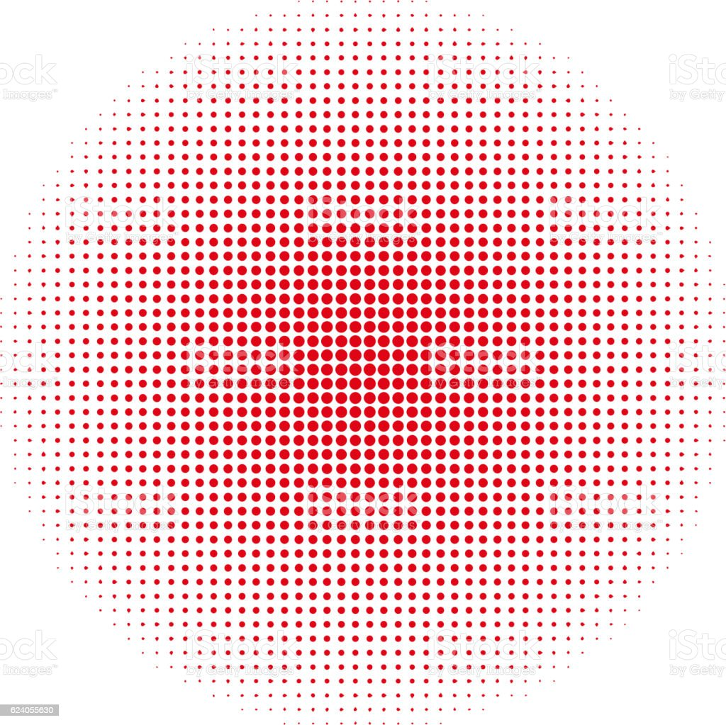 Abstract circle dotted background. Vector illustration. vector art illustration