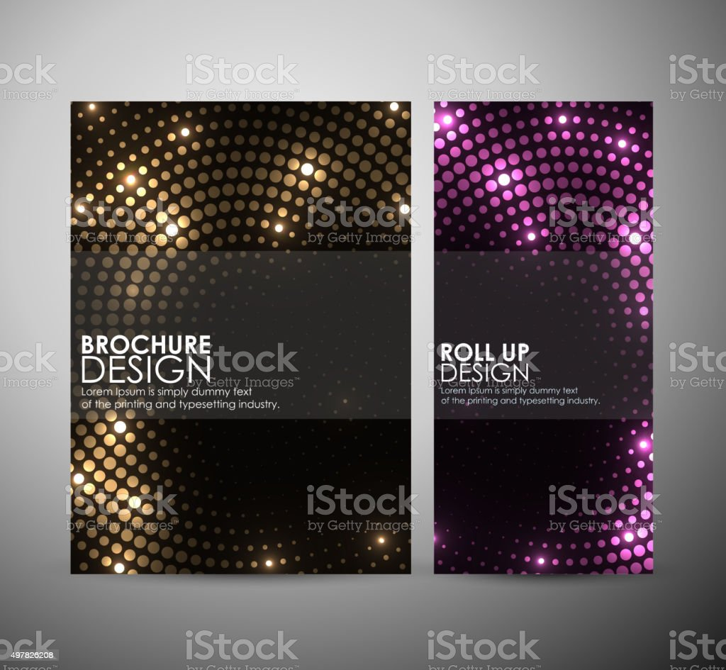 Abstract circles background brochure business design template or roll up. vector art illustration