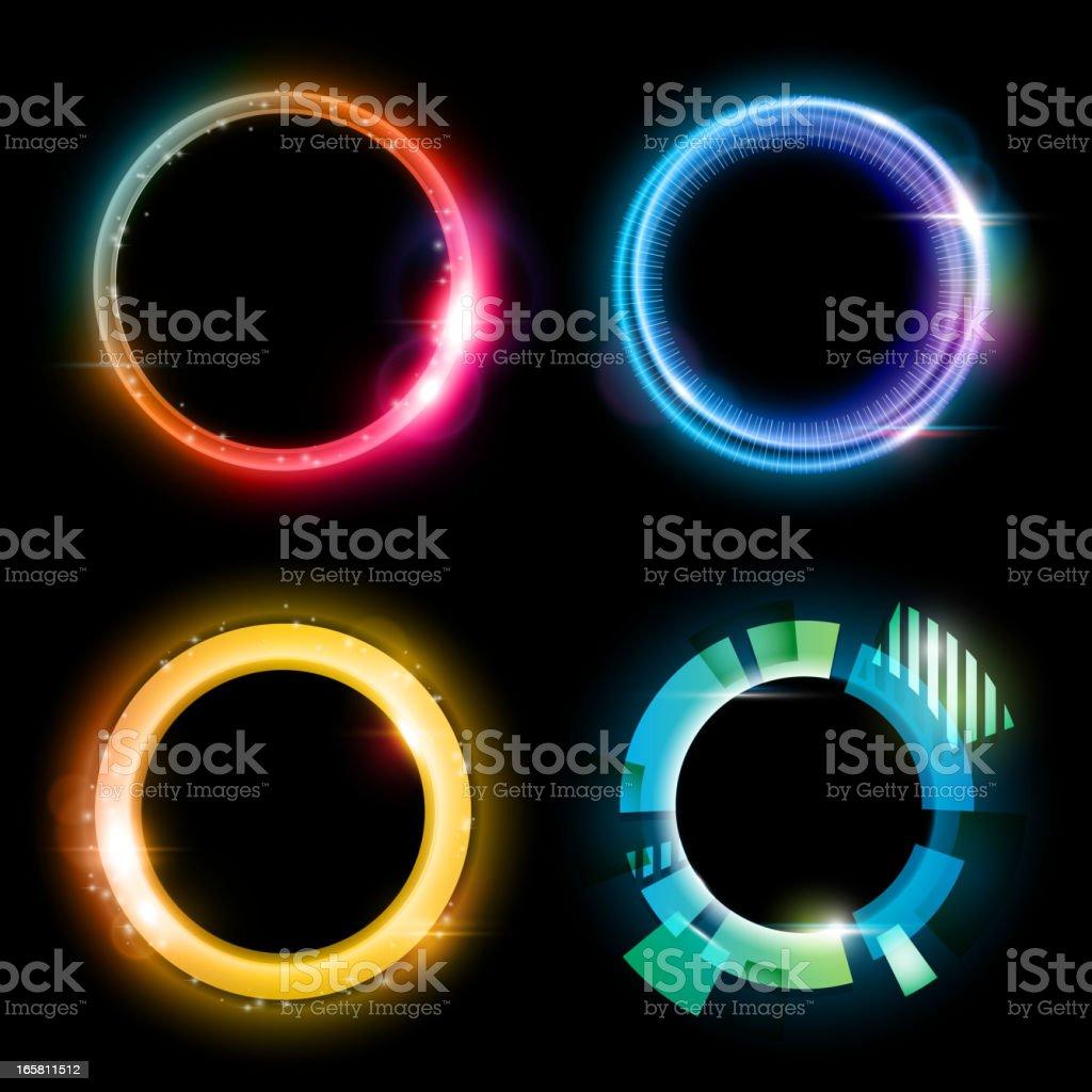 Abstract circles vector art illustration