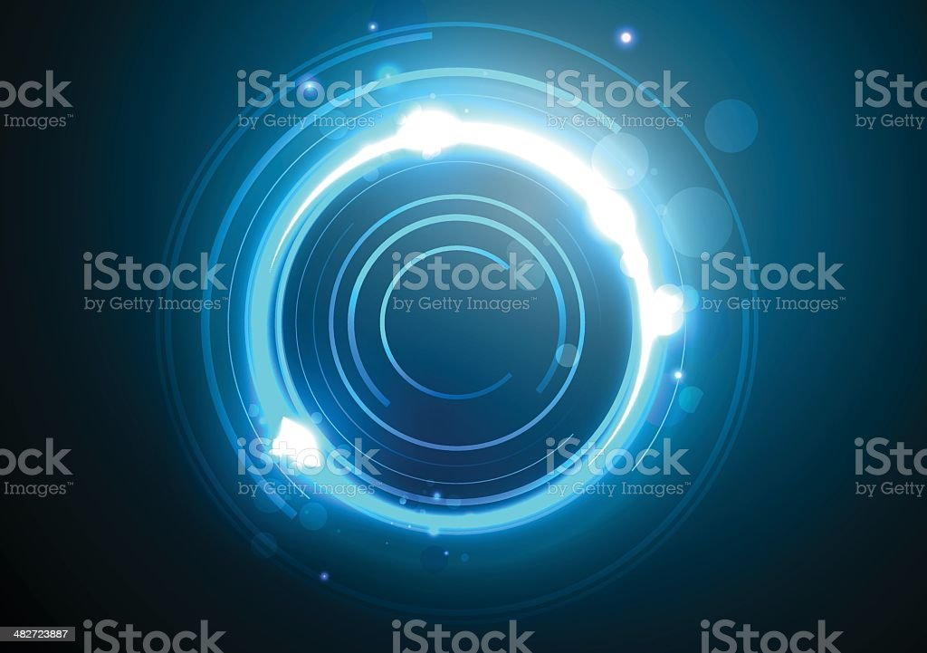 Abstract circles vector art illustration