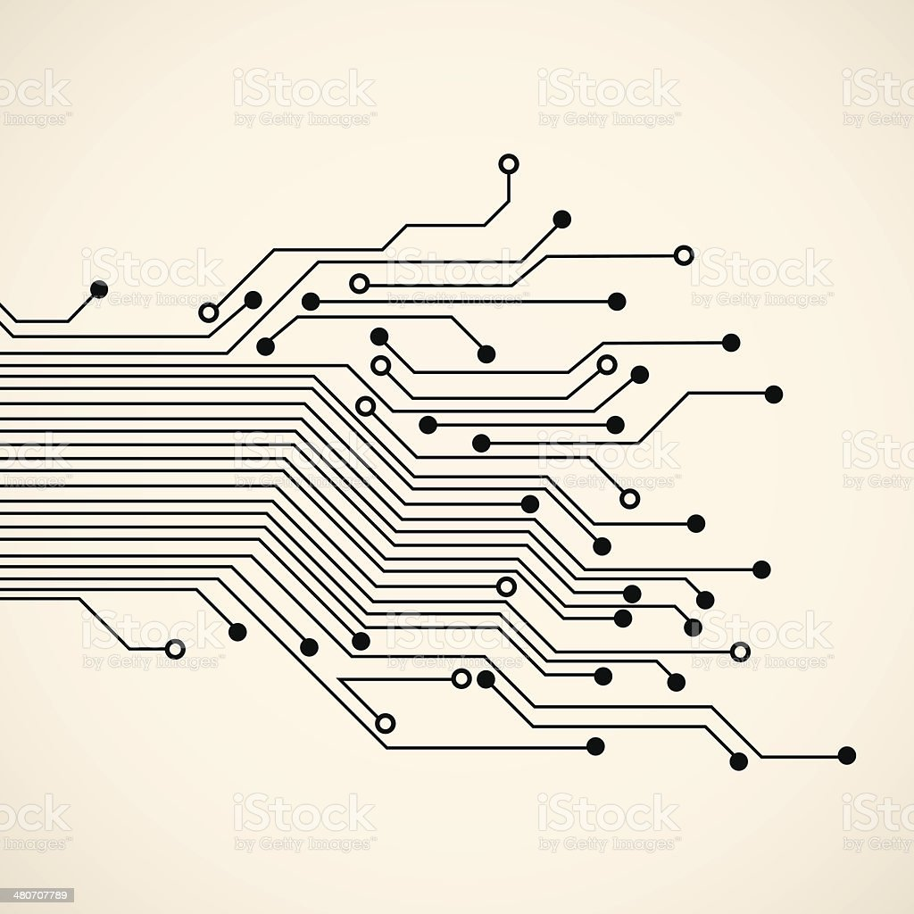 Abstract circuit background vector art illustration