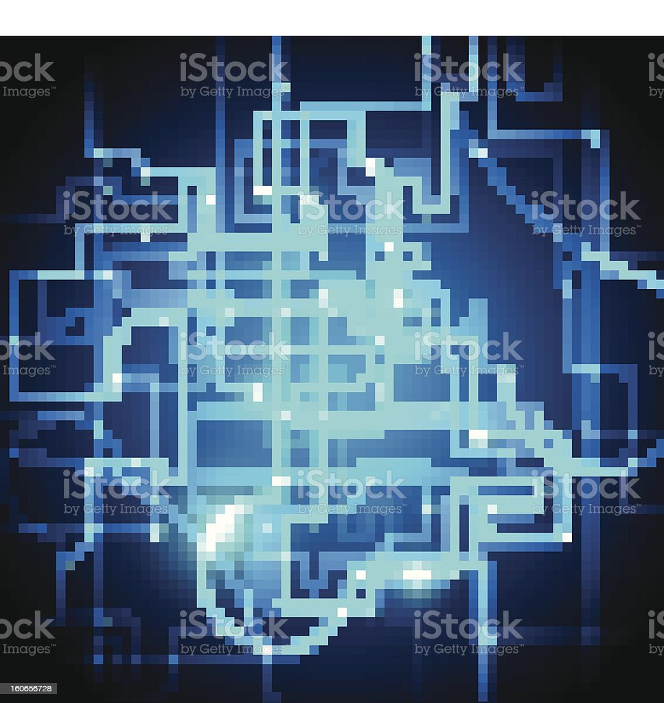 Abstract Circuit Board Blue Vector Background royalty-free stock vector art