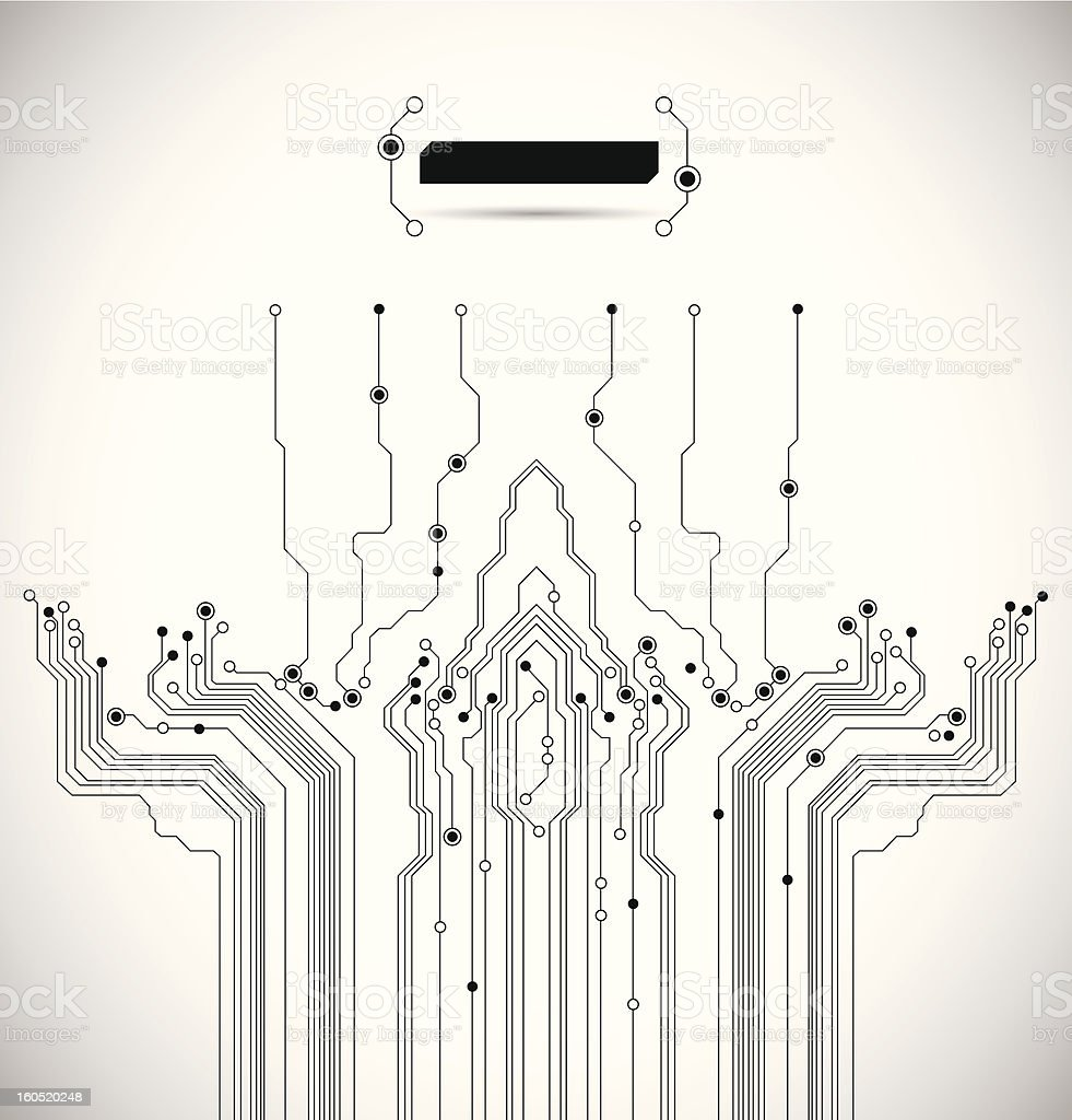 Abstract Circuit Board Vector Background royalty-free stock vector art