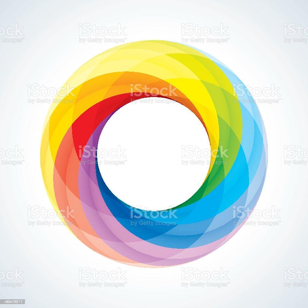 Abstract Circular Logo Design Element royalty-free stock vector art