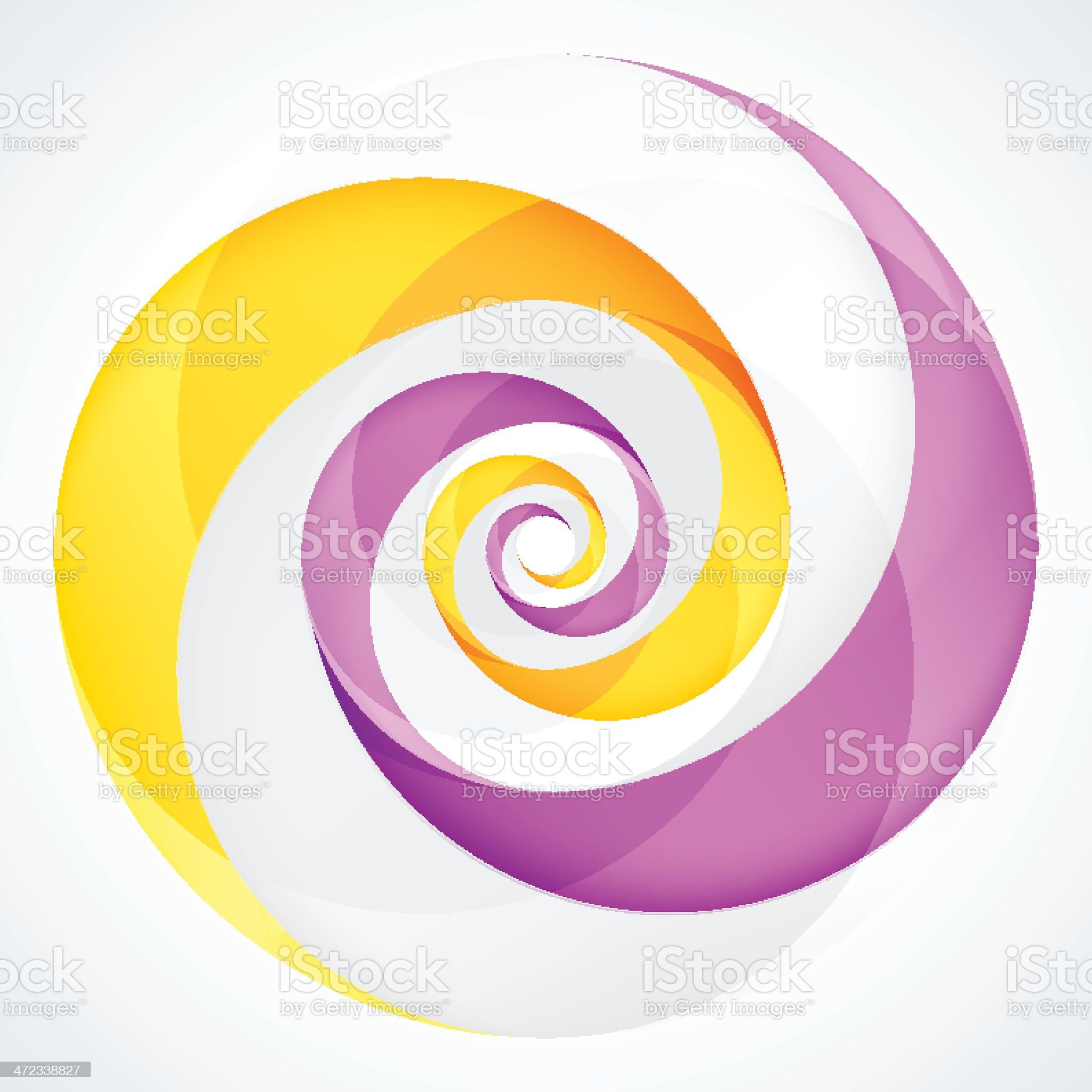 Abstract Circular Swirl Logo Design Element royalty-free stock vector art