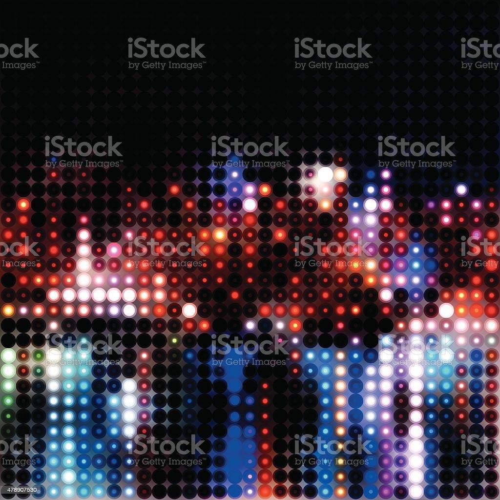 Abstract city lights background illustration vector art illustration