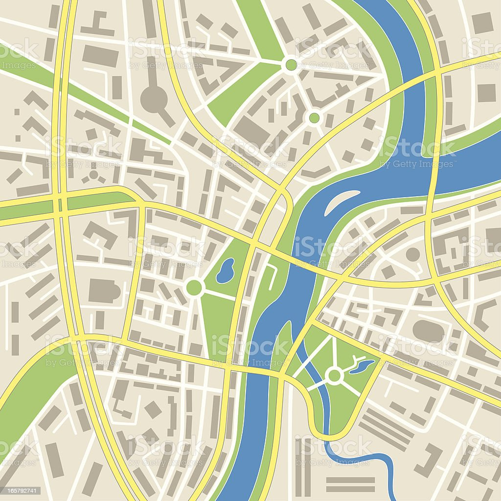 Abstract city map vector art illustration
