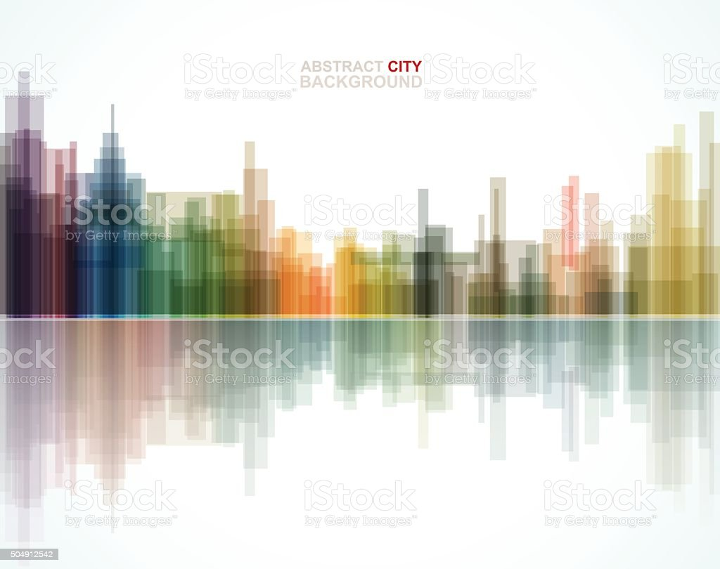 abstract city pattern background vector art illustration