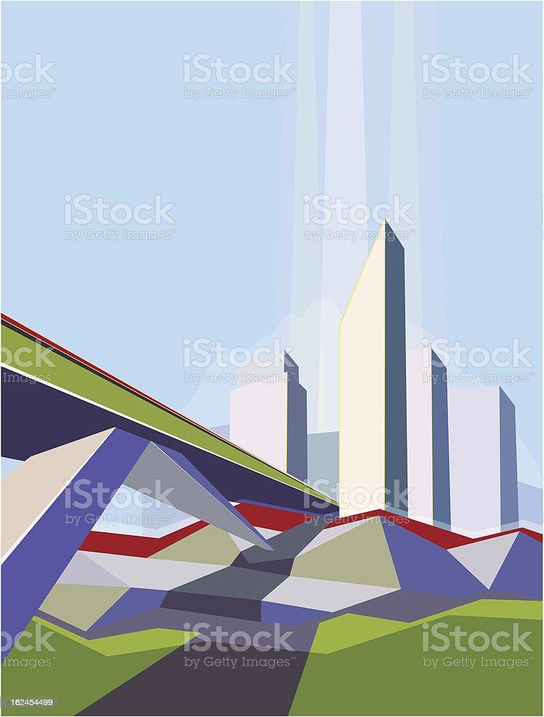 Abstract city royalty-free stock vector art