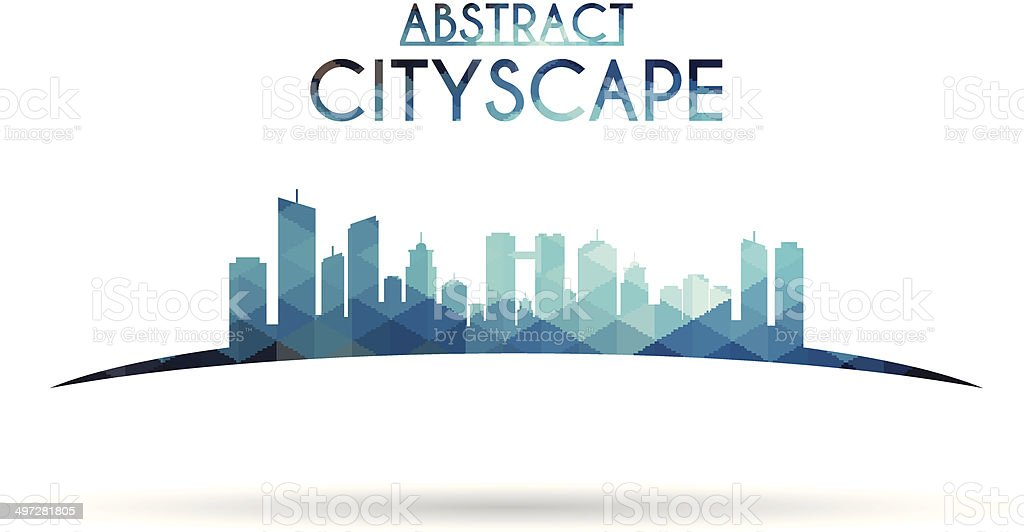 Abstract cityscape vector art illustration