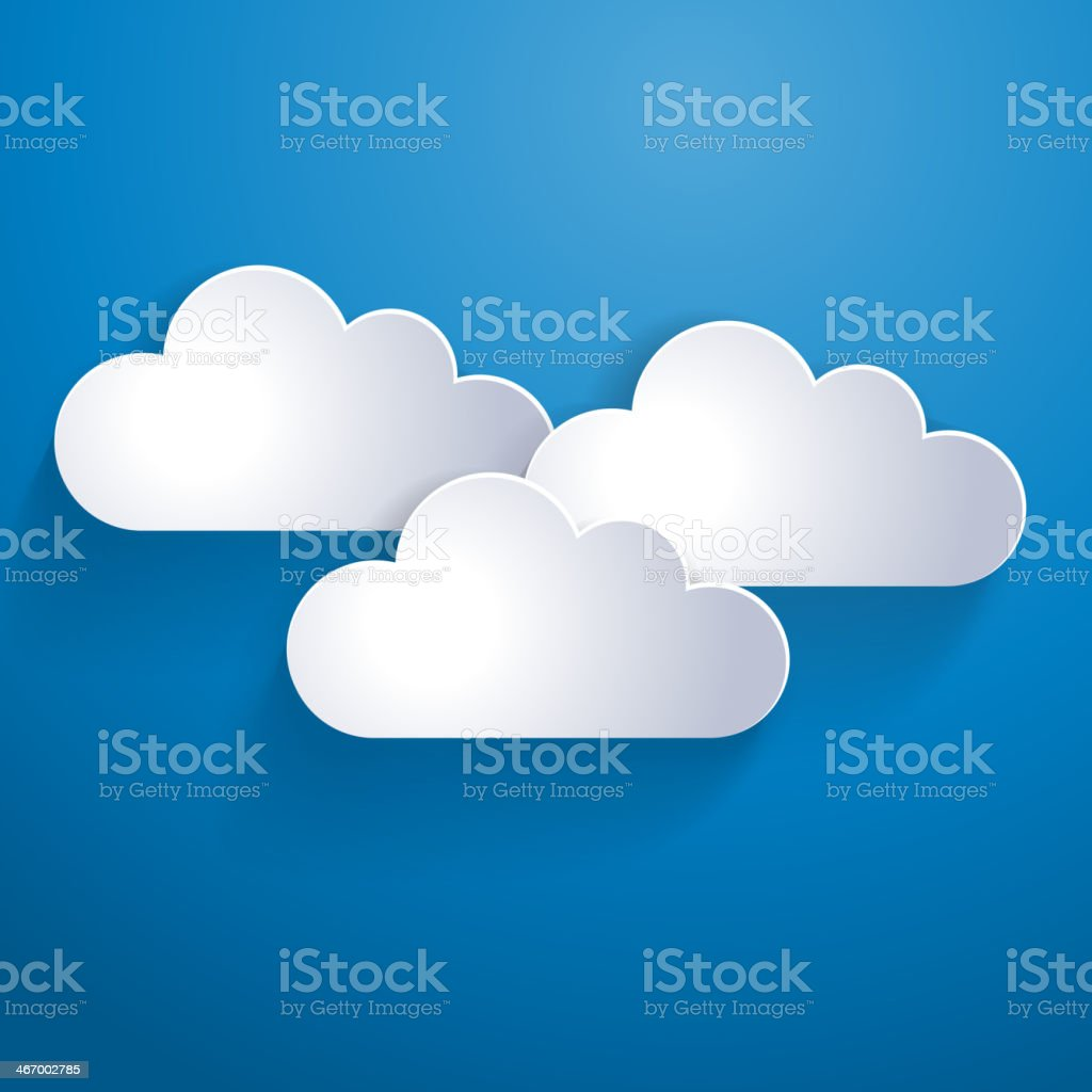 Abstract clouds background vector art illustration
