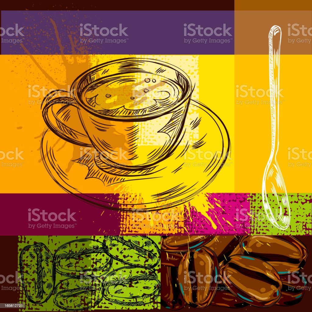 Abstract Coffee Background vector art illustration