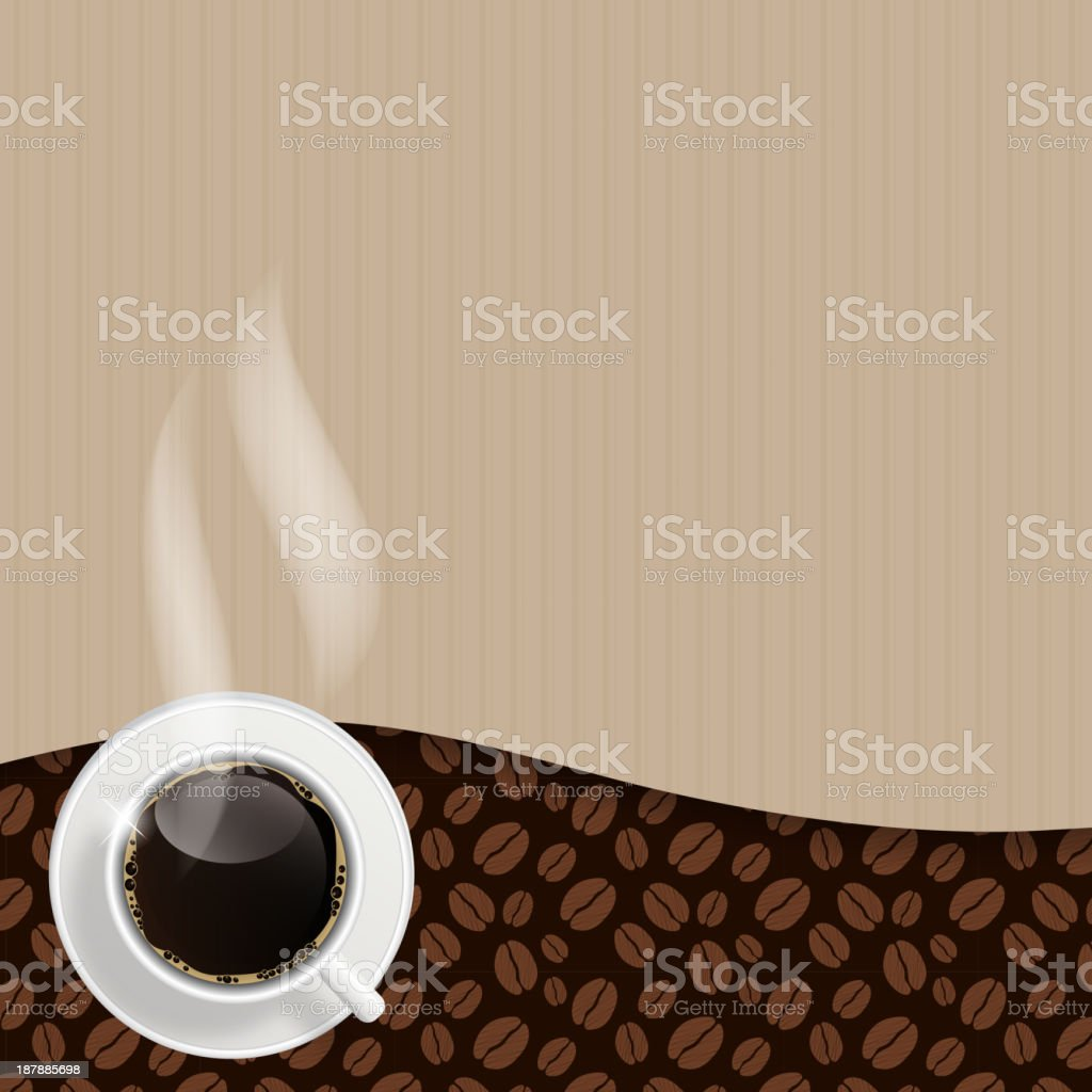 Abstract coffee background vector illustration royalty-free stock vector art
