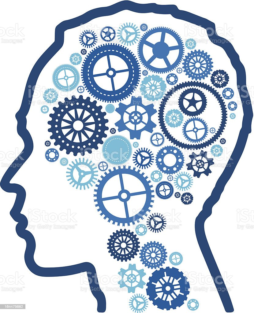abstract cognitive intelligence. vector art illustration
