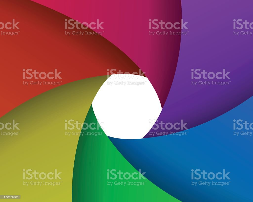 abstract color aperture vector art illustration