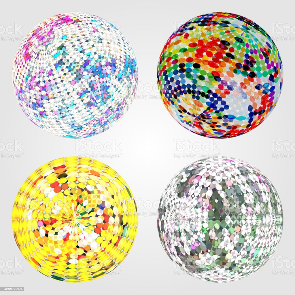 abstract color ball background vector art illustration