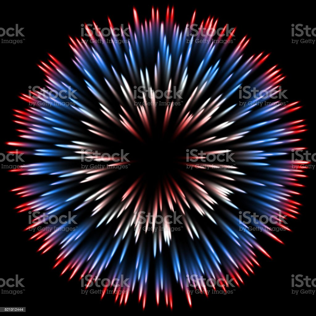 Abstract color design with a burst. vector vector art illustration