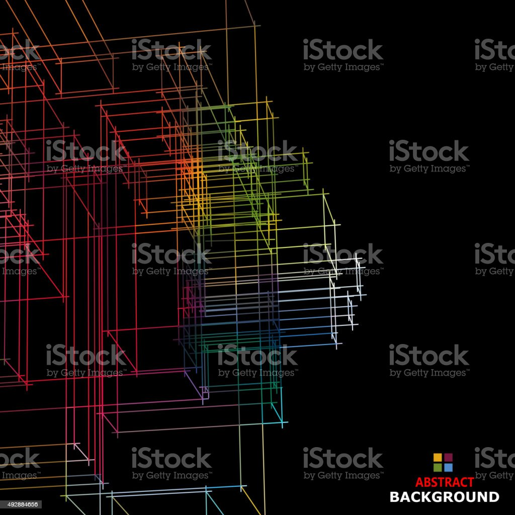 abstract color line structure pattern background vector art illustration