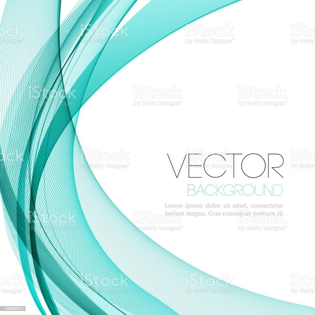Abstract color lines background. Template leaflet design vector art illustration