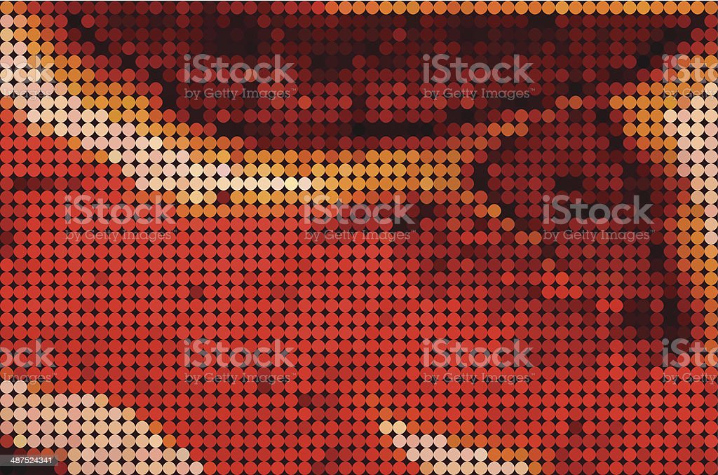abstract color polka dots pattern background vector art illustration