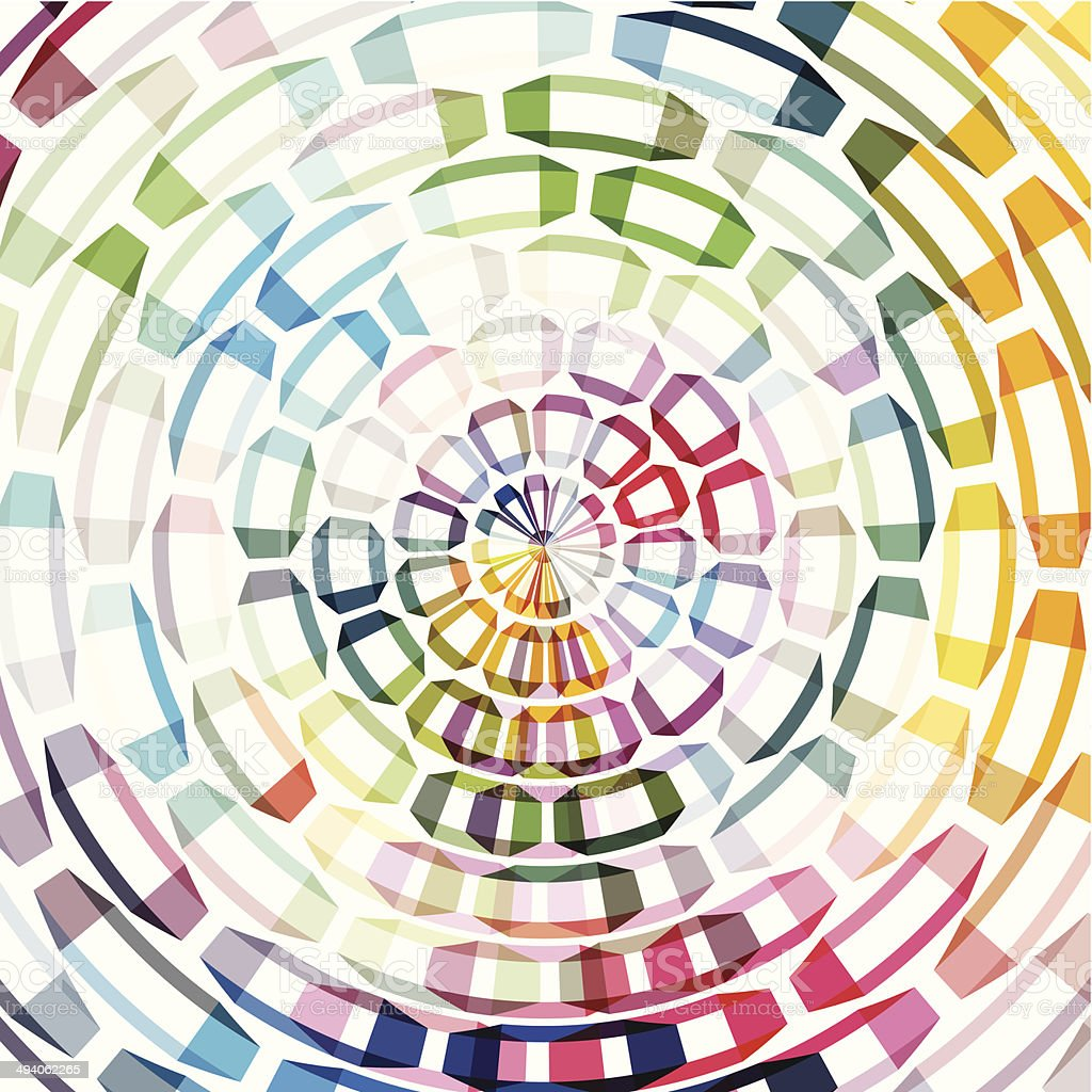 abstract color ring shape background vector art illustration