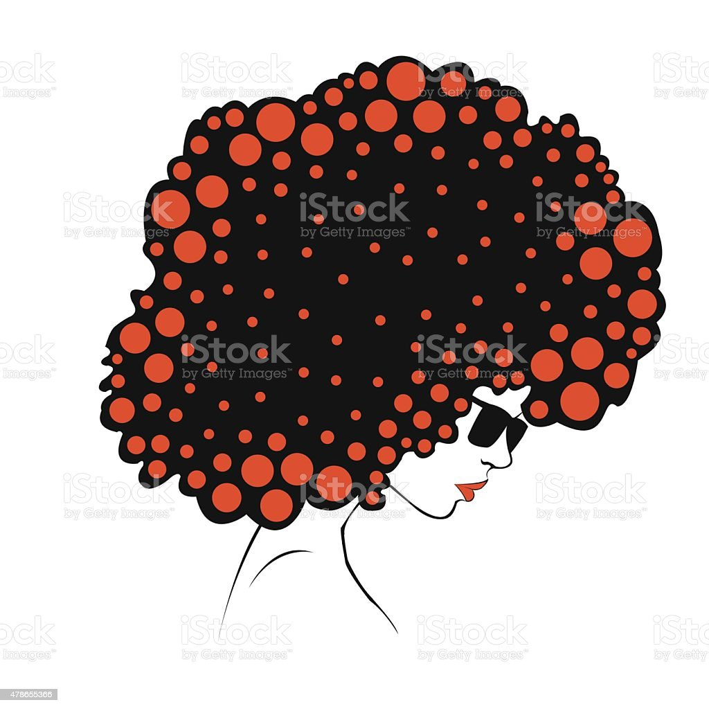 abstract  Color round hair - Illustration royalty-free stock vector art