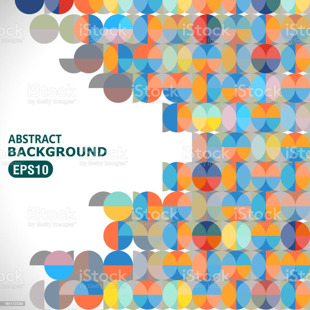 abstract color round pattern background vector art illustration