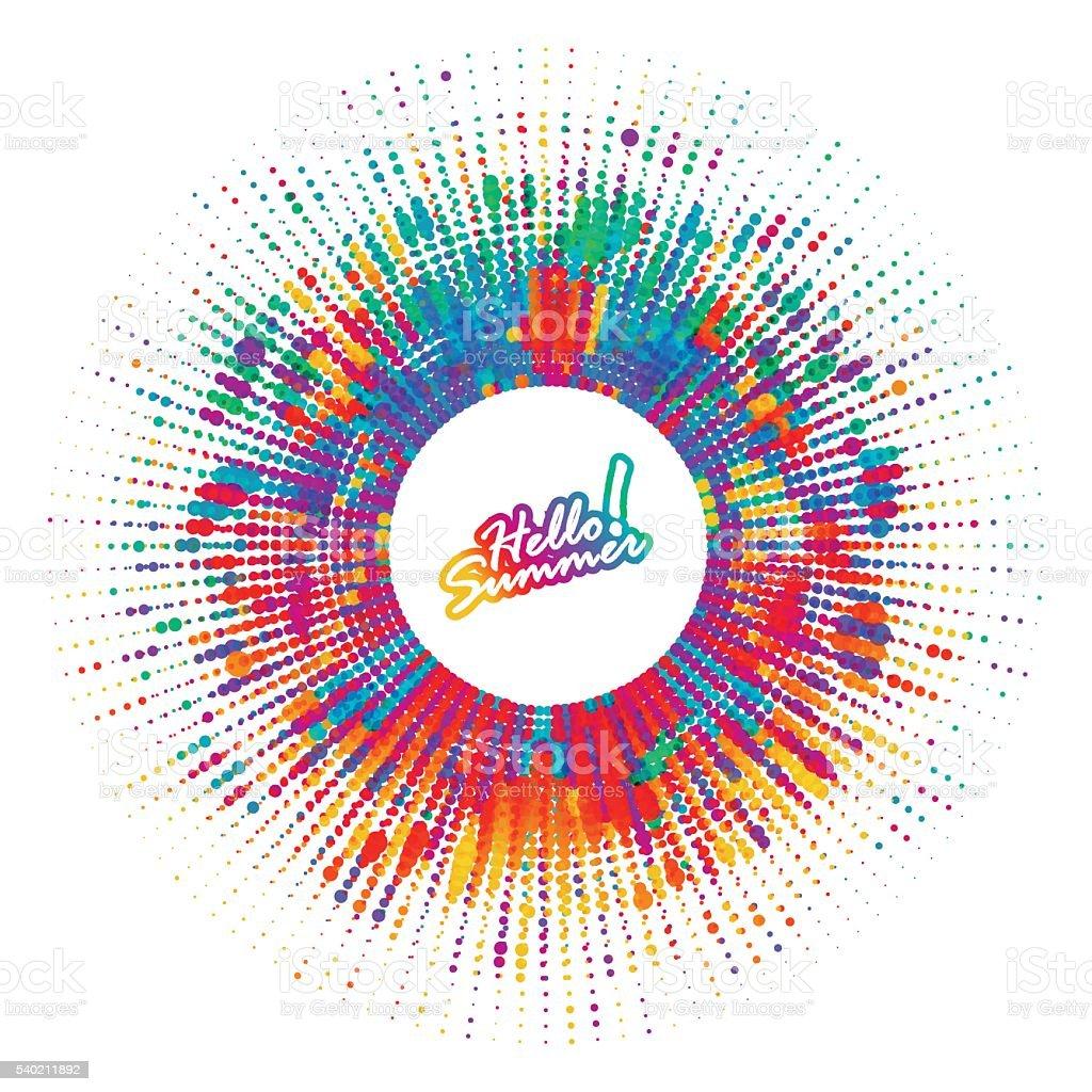 Abstract color splash, spray background vector art illustration