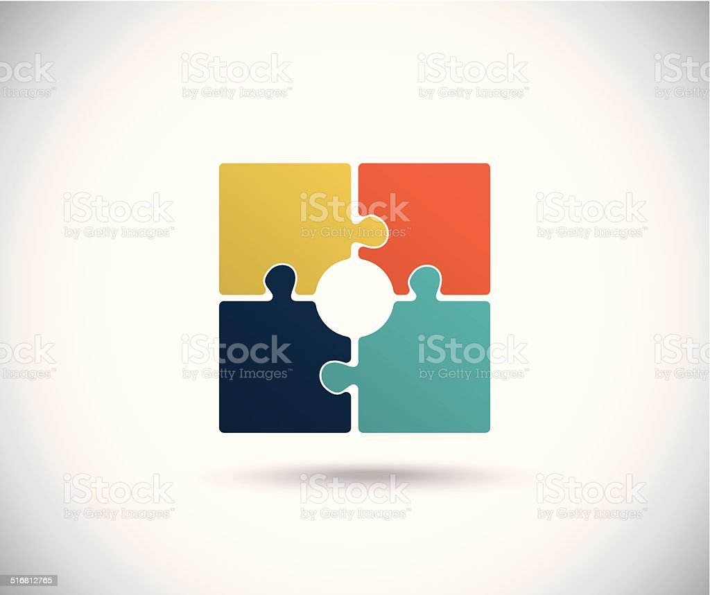Abstract color square vector art illustration