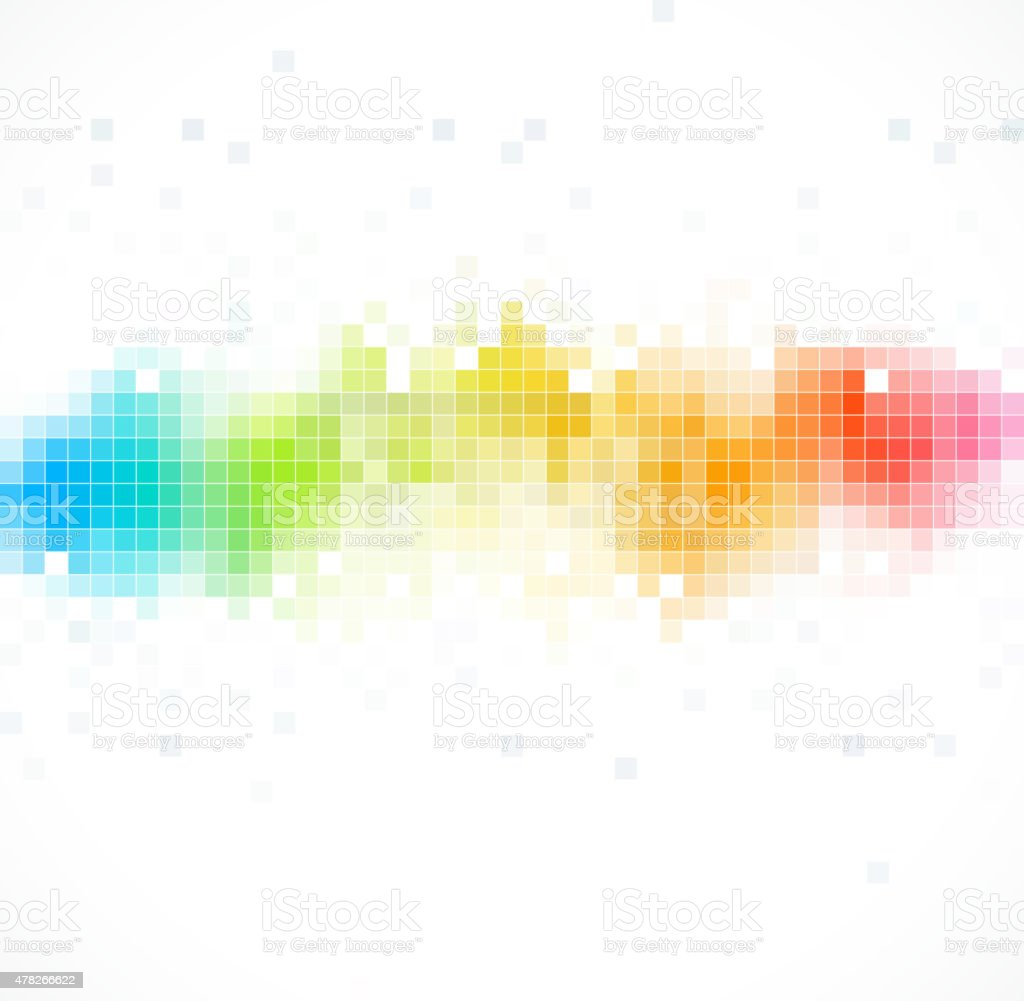 abstract color technology check pattern background vector art illustration