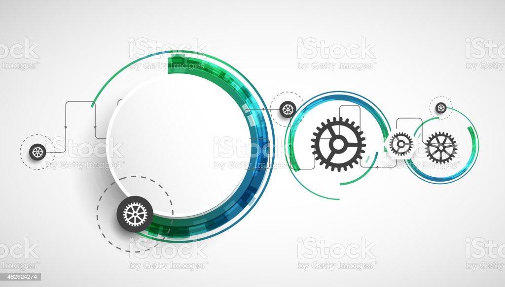 Computer-generierte Hintergrund abstrakte Fraktal Kreisen der ...