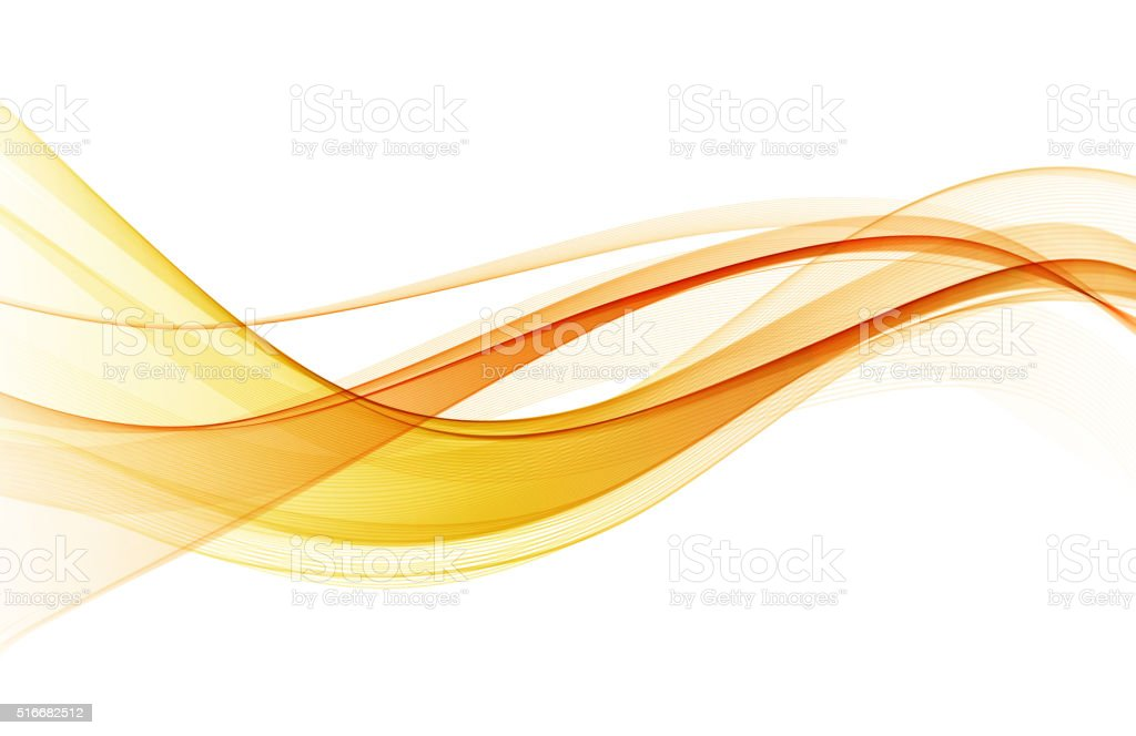 Abstract color wave design element vector art illustration