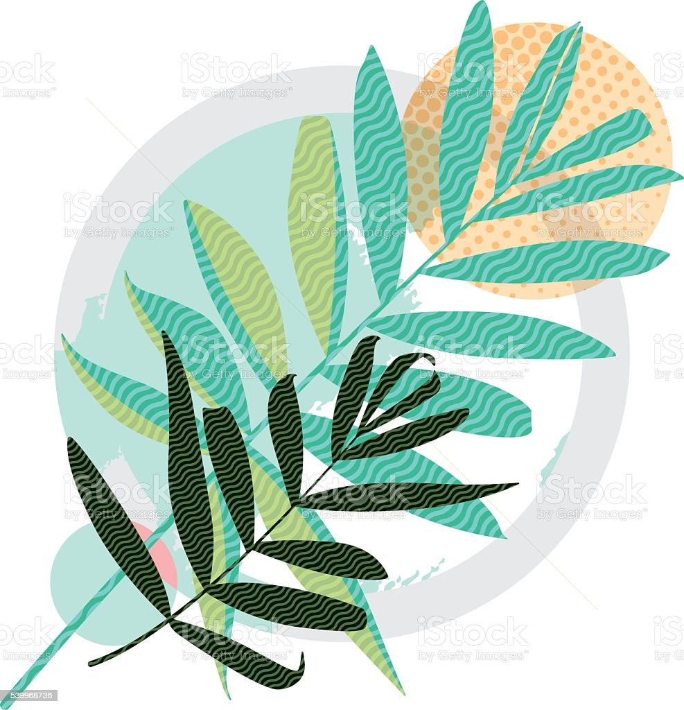 Abstract colored modern Greeting card vector art illustration