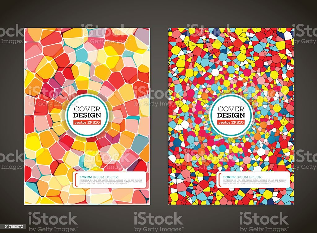 Abstract colored mosaic for background. vector art illustration