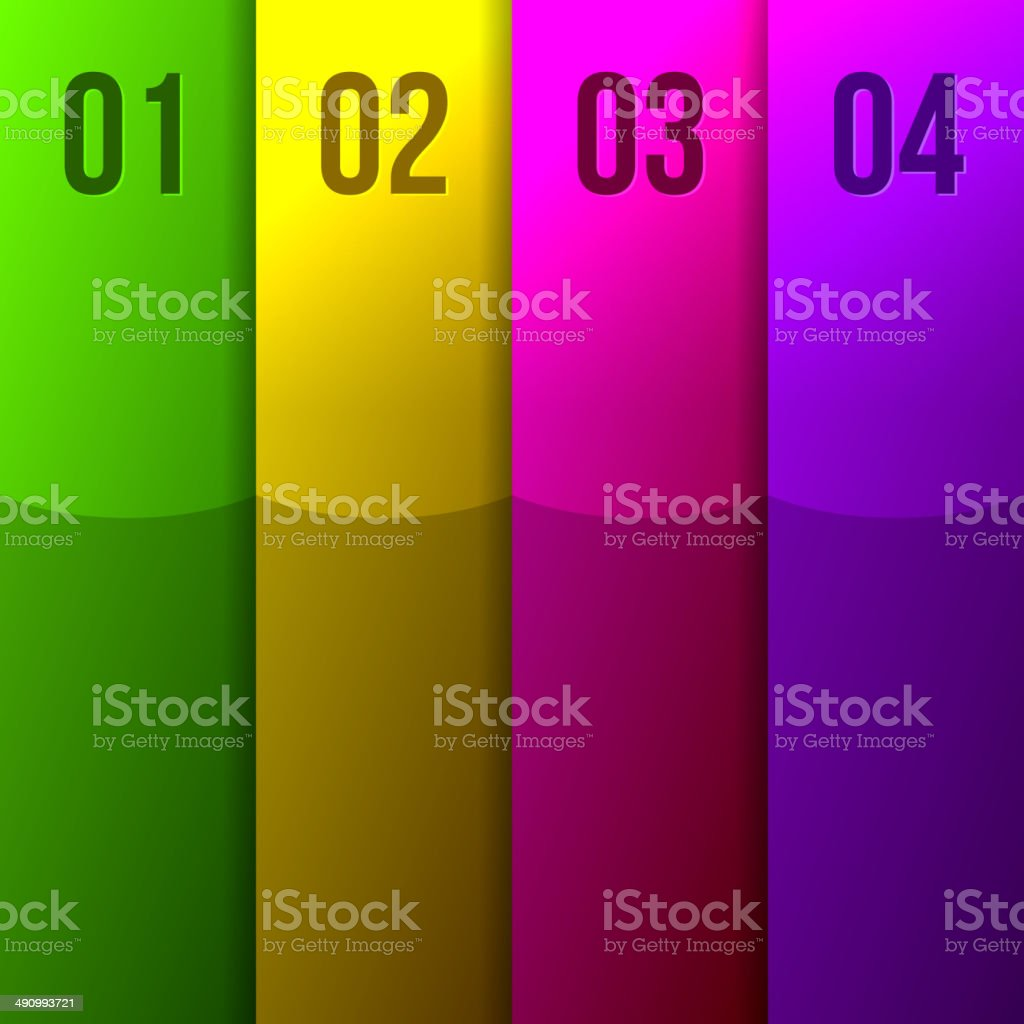 Abstract Colored Stripes royalty-free stock vector art