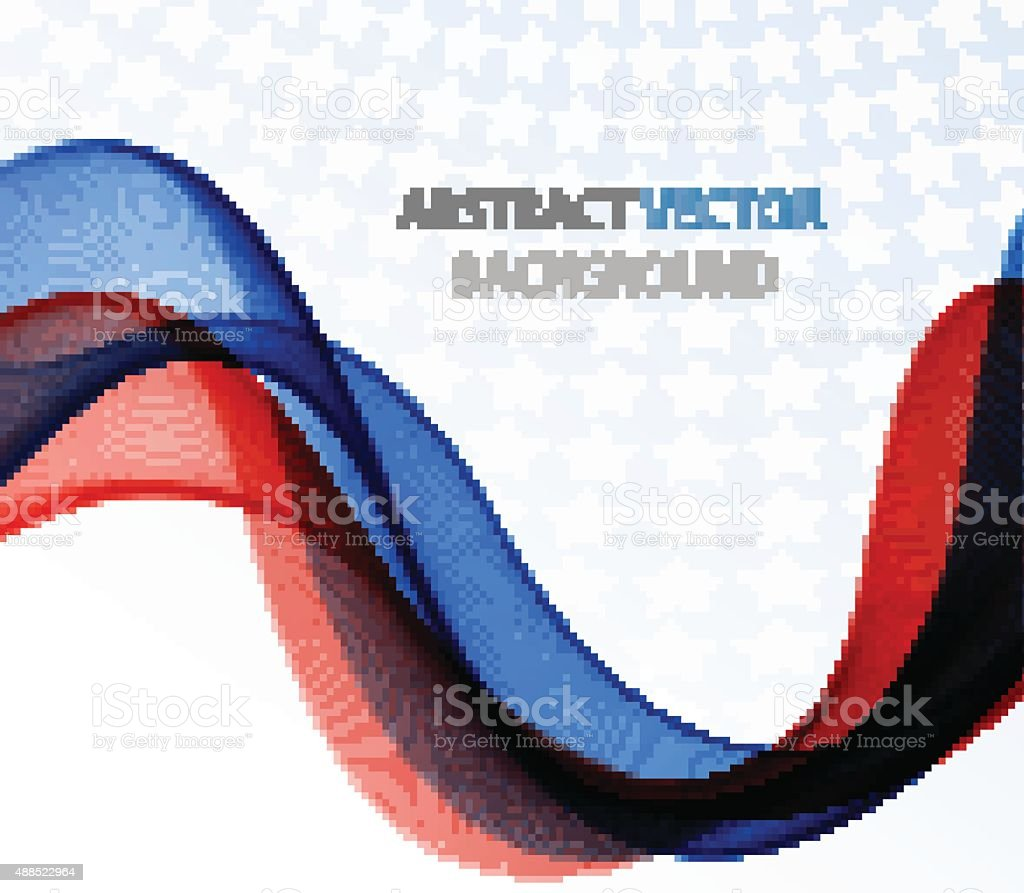 Abstract colored wave on white vector art illustration