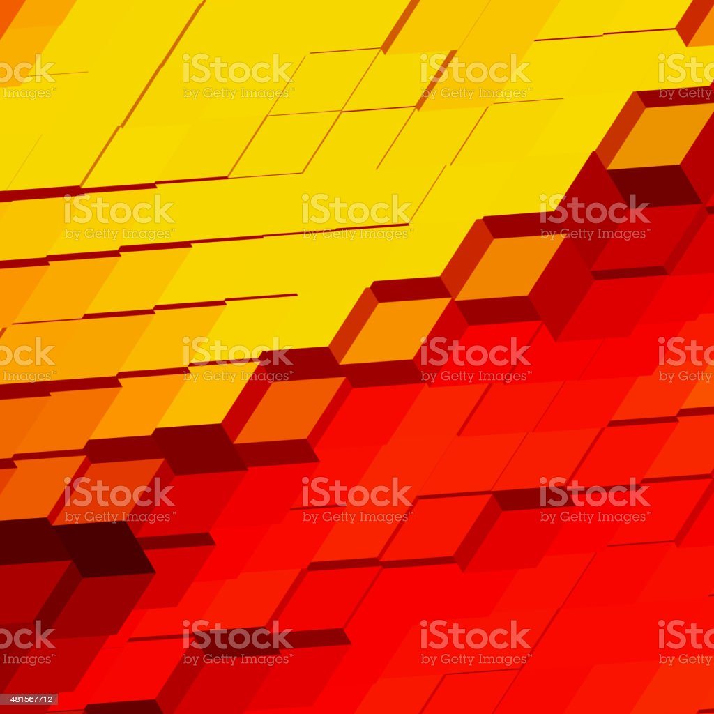 abstract colorful 3D rectangle pattern background for design vector art illustration