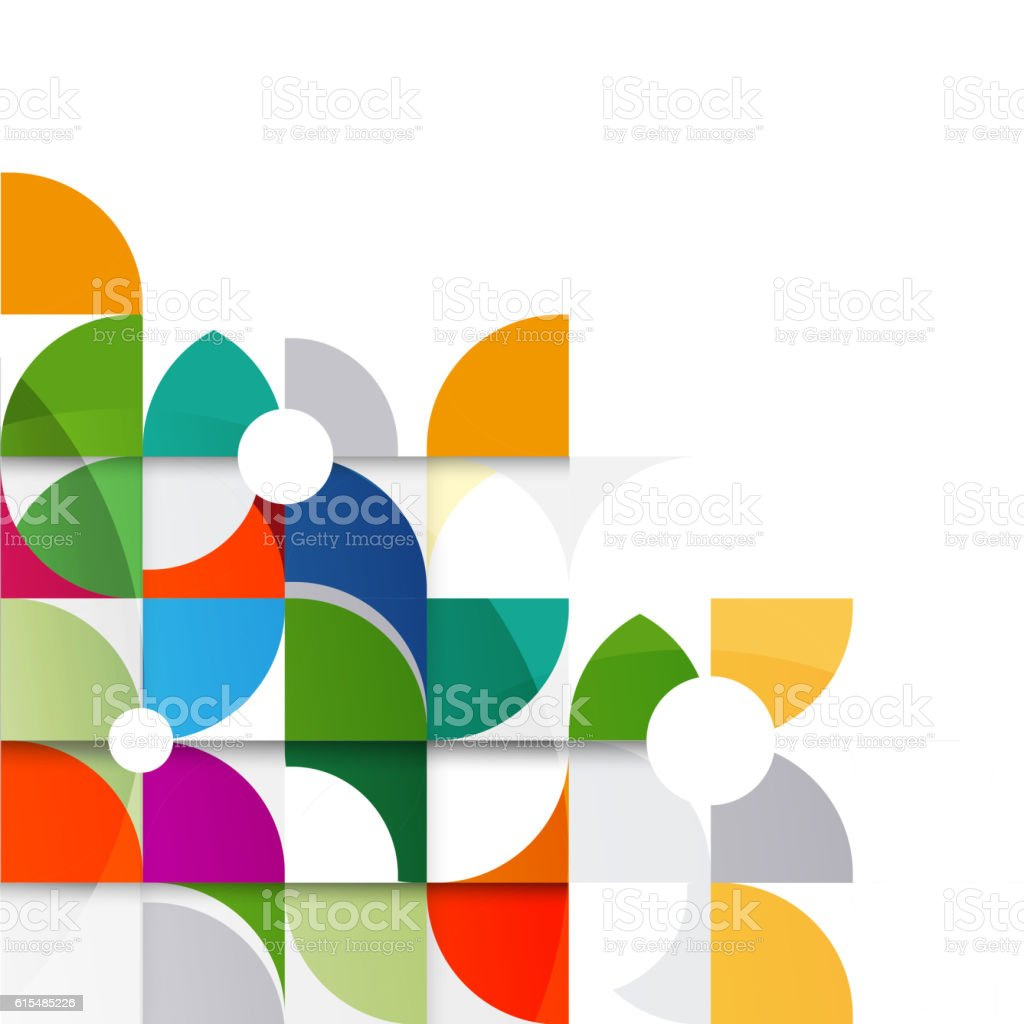 Abstract colorful and creative geometric with a variety of geometric vector art illustration