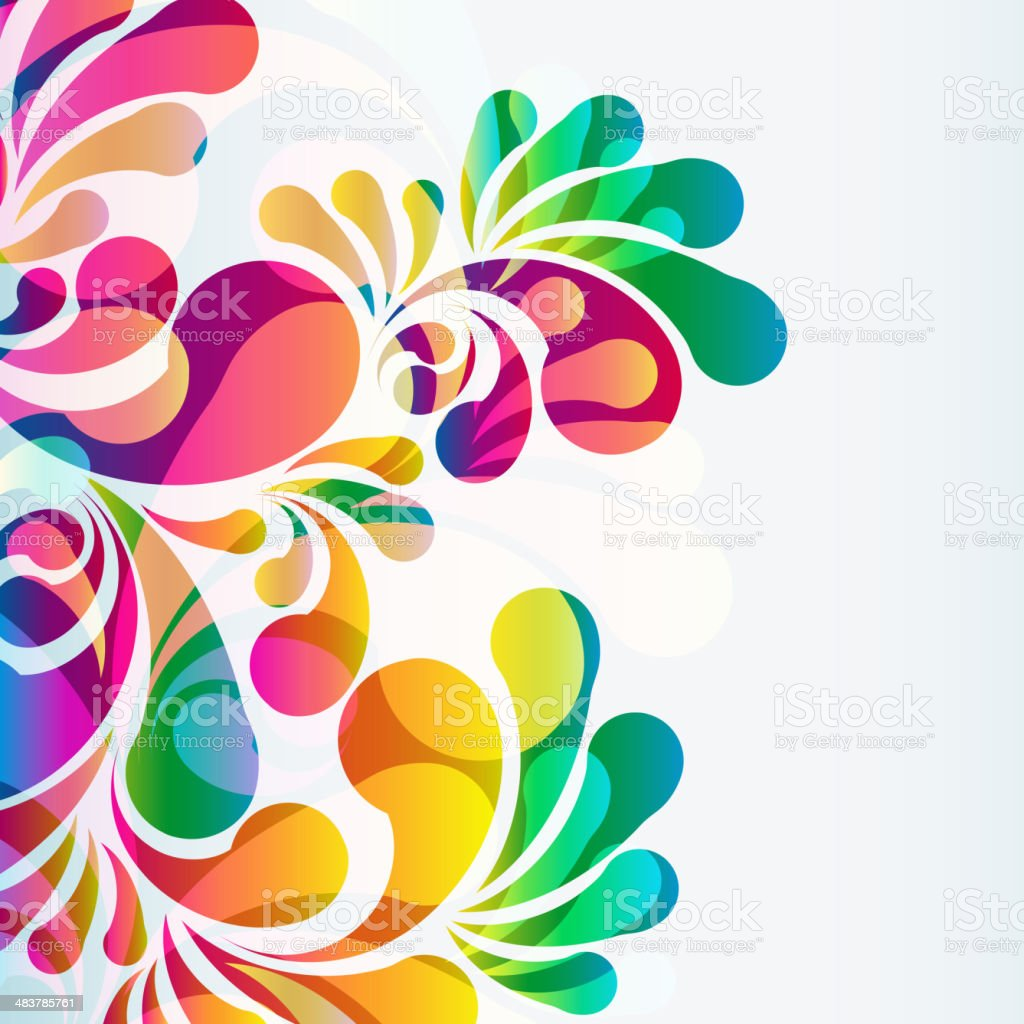 Abstract colorful arc-drop background. vector art illustration