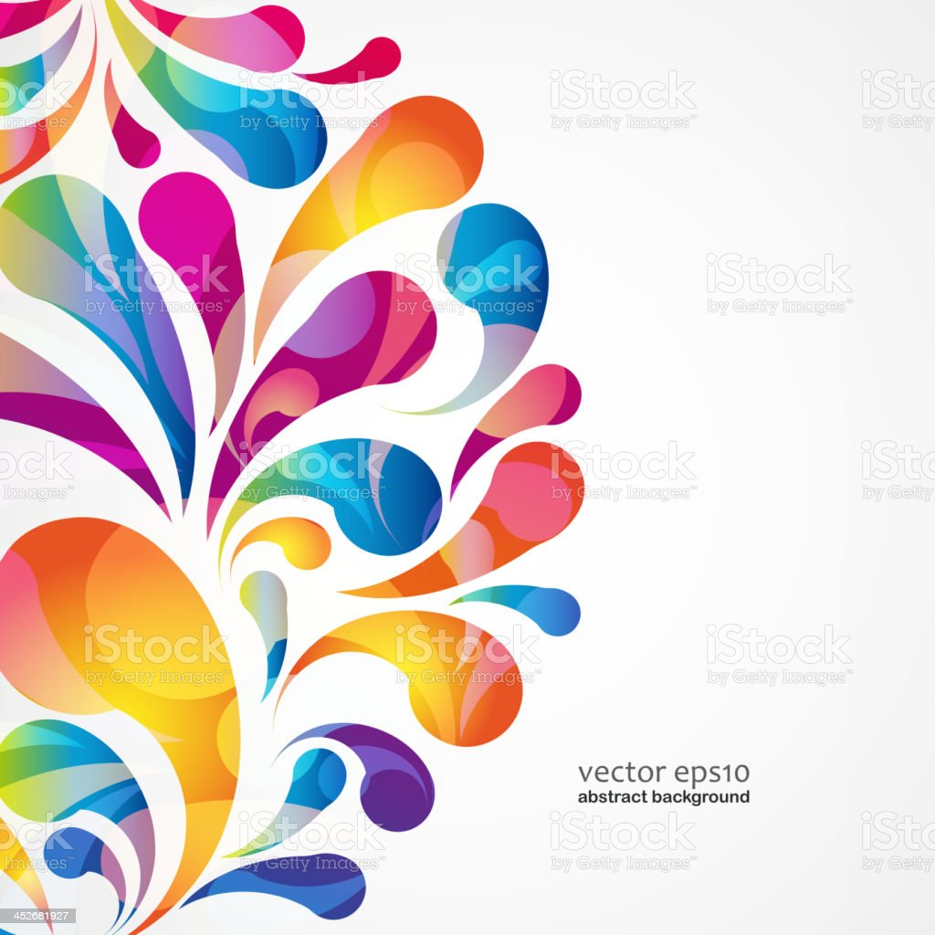 Abstract colorful arc-drop background. Vector. vector art illustration