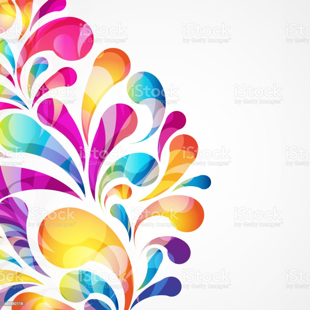 Abstract colorful arc-drop background. Vector. royalty-free stock vector art
