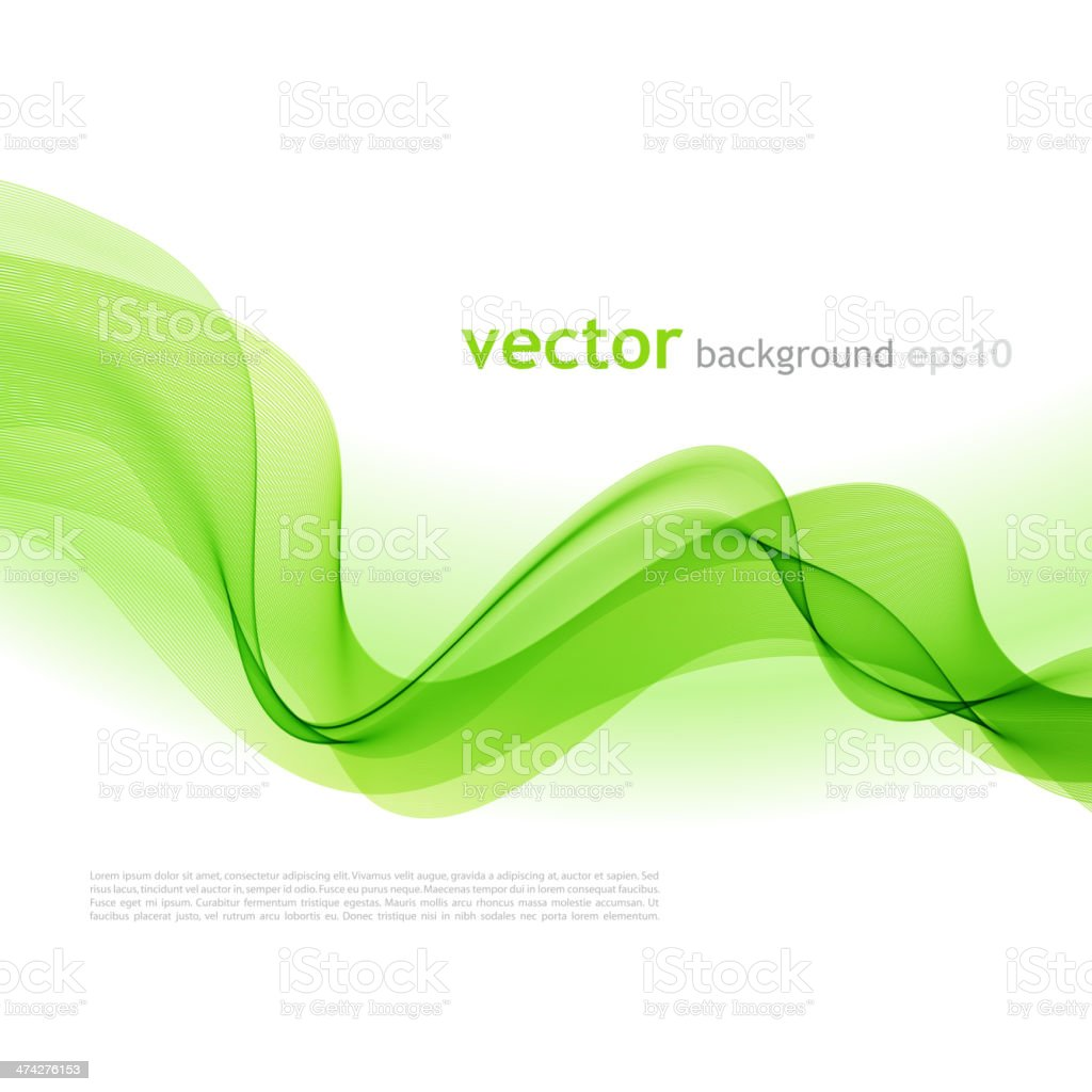 Abstract colorful background green smoke wave vector art illustration