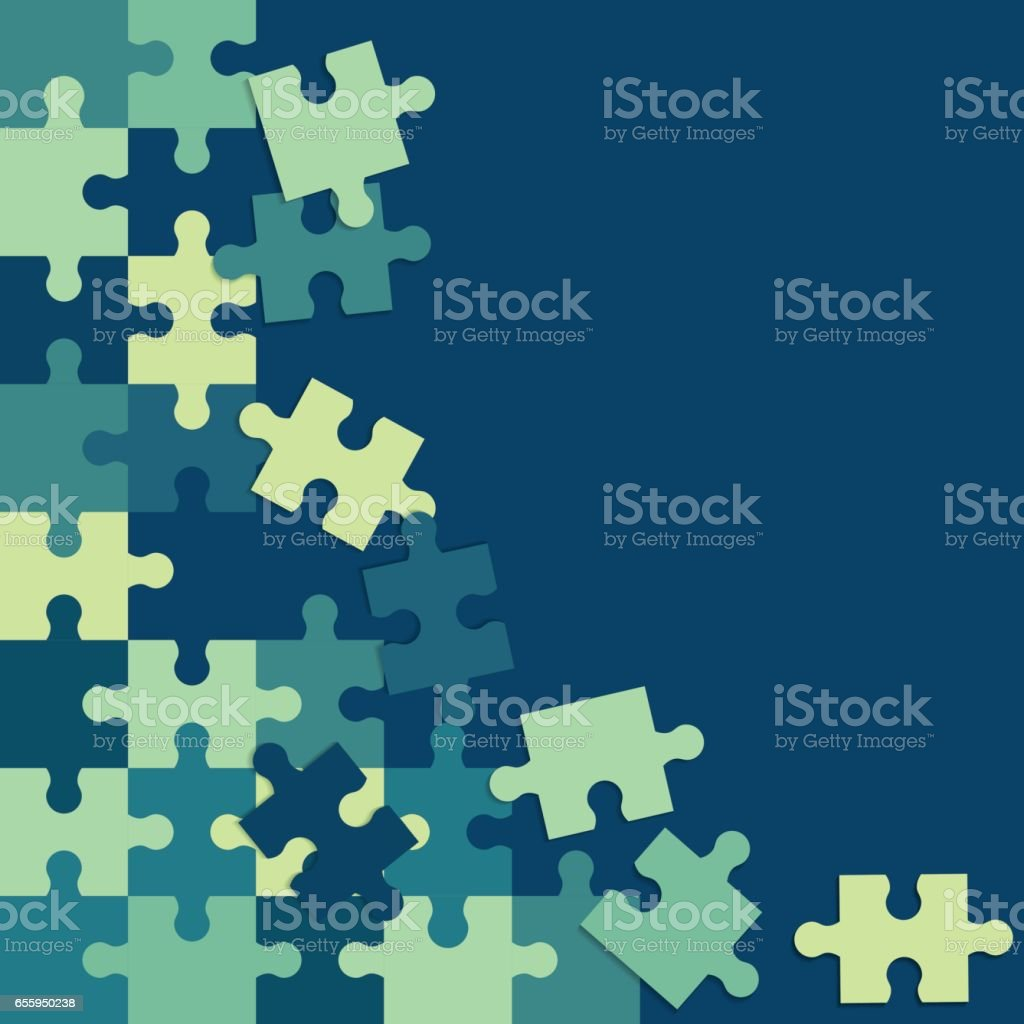 Abstract Colorful Background Of Puzzle Pieces Royalty Free Stock Vector Art