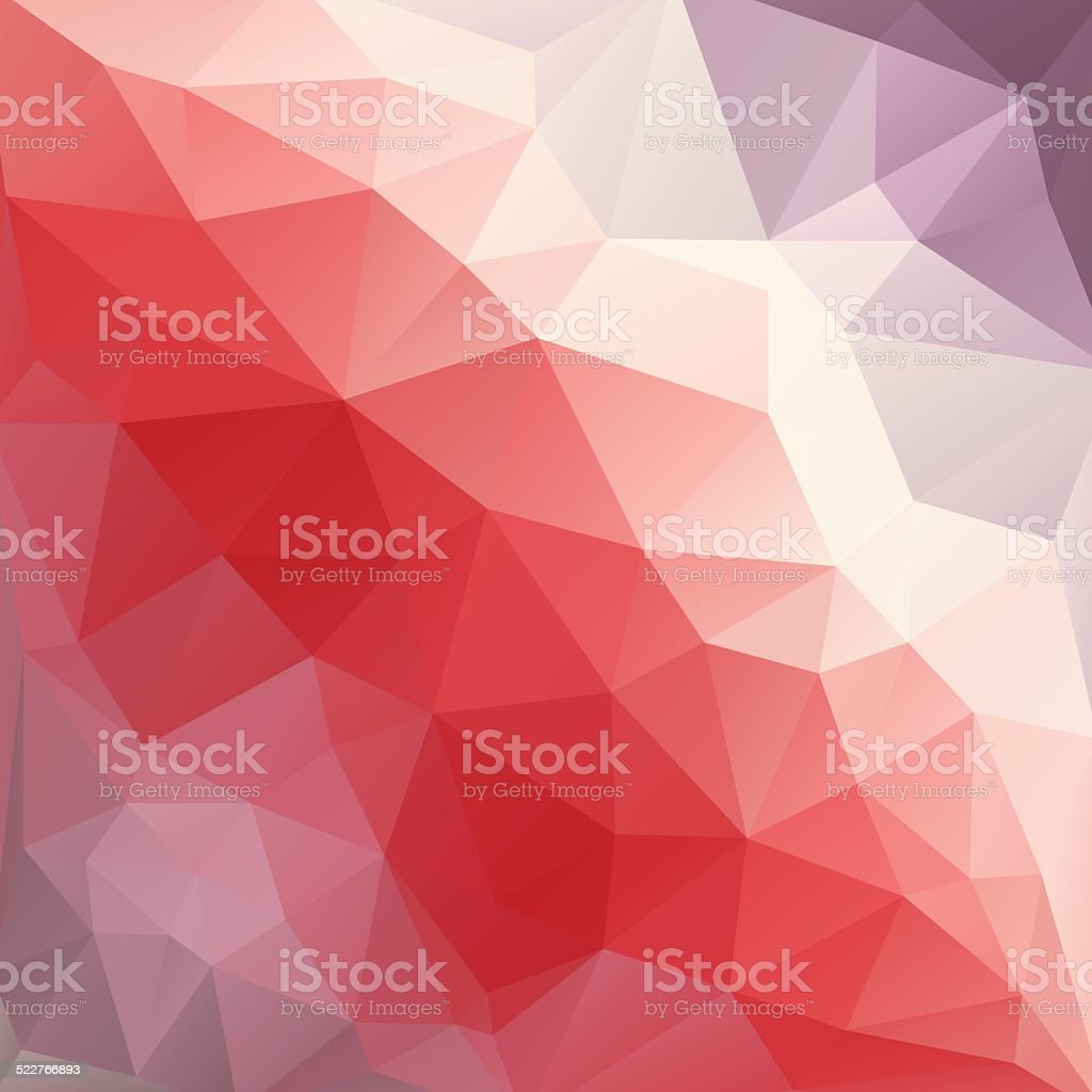 Abstract colorful background of triangles vector art illustration