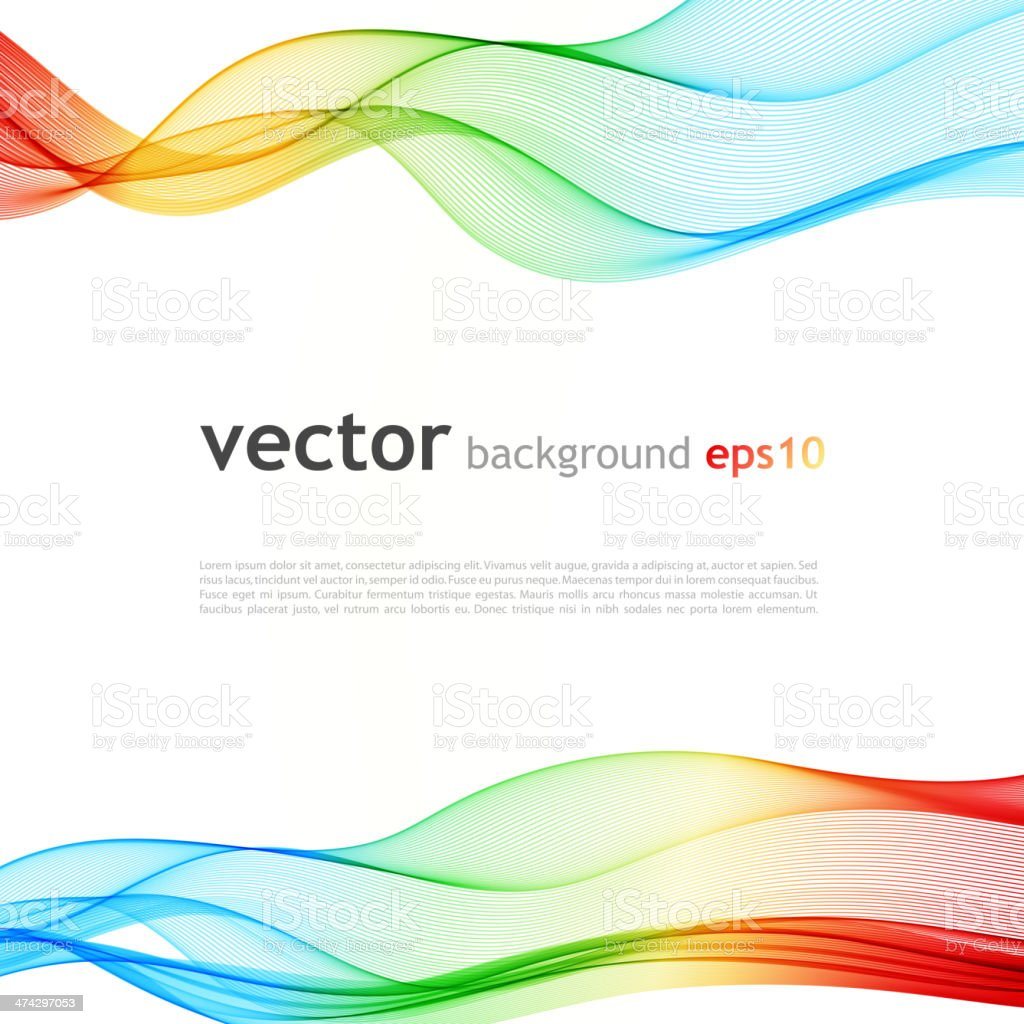 Abstract colorful background. Spectrum wave. vector art illustration