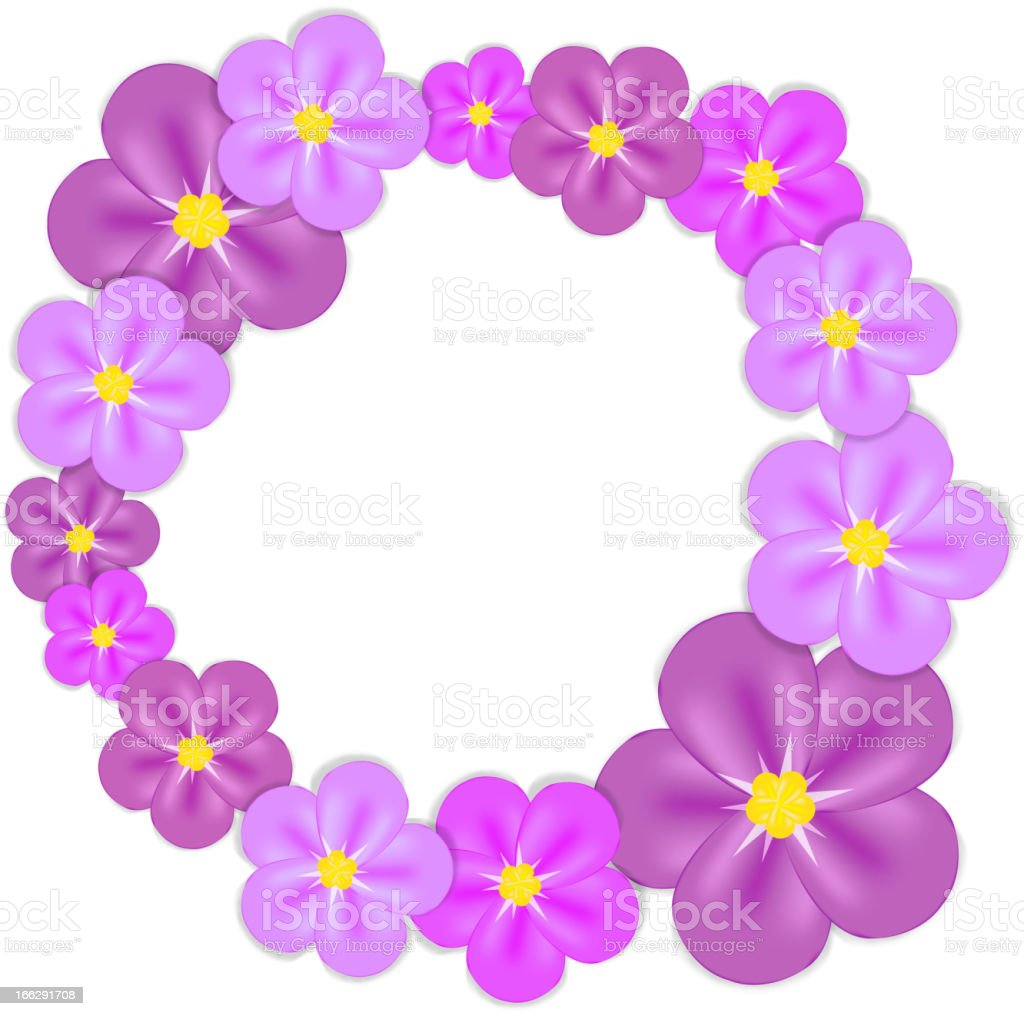 Abstract colorful background with flowers. Vector illustration royalty-free stock vector art