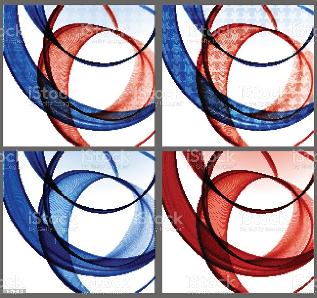 Abstract colorful background with wave, illustration vector art illustration